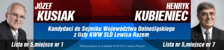 materiał wyborczy KWW SLD Lewica razem